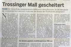 Trossinger-Mall-gescheitert